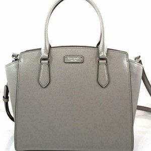 Kate Spade Jeanne Leather Satchel Soft Taupe Grey